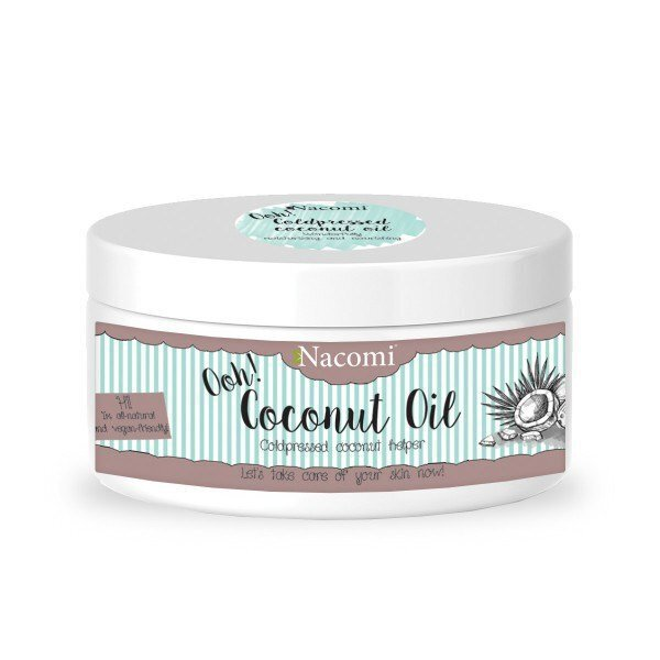 Olej kokosowy na twarz, skórę, włosy - nierafinowany Nacomi 100 ml (1) - kosmetyki naturalne