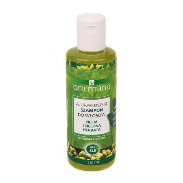 Ajurwedyjski szampon - Neem i zielona herbata Orientana (1)