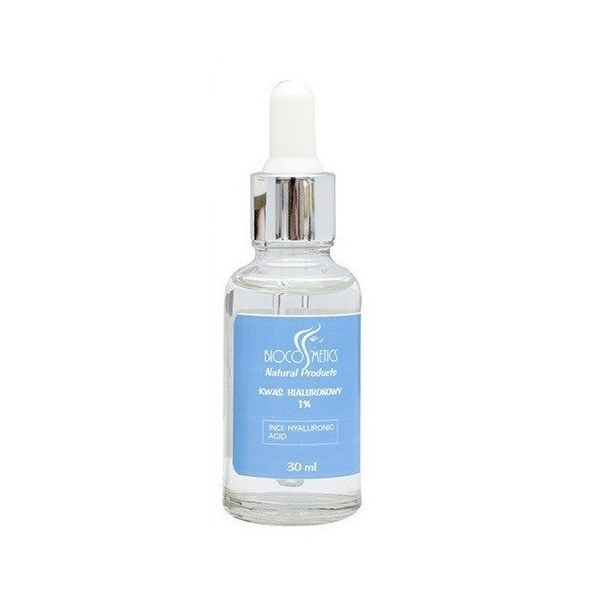 Kwas hialuronowy 1% w szklanej butelce Biocosmetics (1) - kosmetyki naturalne