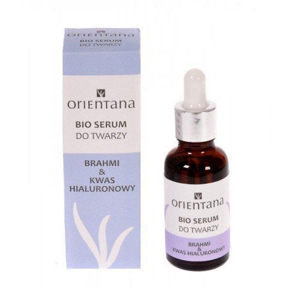 BIO serum do twarzy - Brahmi i kwas hialuronowy (1) - kosmetyki naturalne
