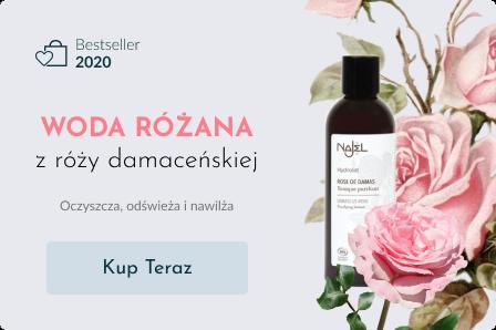Woda różana z róży damasceńskiej BIO